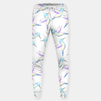 Miniatur A cute Hummingbird with iridescent feathers- watercolor birds painting Sweatpants, Live Heroes