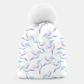 Miniatur A cute Hummingbird with iridescent feathers- watercolor birds painting Beanie, Live Heroes