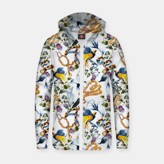 Thumbnail image of Exotic birds in chains Sudadera con capucha y cremallera , Live Heroes