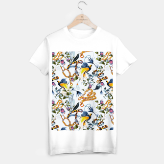 Miniature de image de Exotic birds in chains Camiseta Regular, Live Heroes