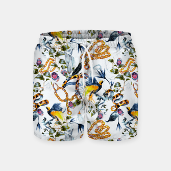 Miniature de image de Exotic birds in chains Pantalones de baño, Live Heroes