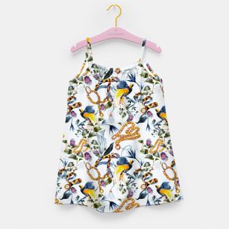 Miniature de image de Exotic birds in chains Vestido para niñas, Live Heroes