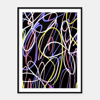 Thumbnail image of Sahara Street Neon Lights Framed poster, Live Heroes