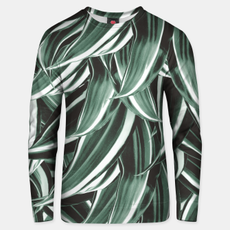 Thumbnail image of Tropical Greenery #1 #green #pattern #decor #art Unisex sweatshirt, Live Heroes