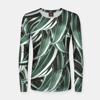 Thumbnail image of Tropical Greenery #1 #green #pattern #decor #art Frauen sweatshirt, Live Heroes