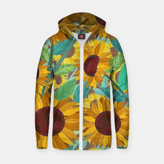 Thumbnail image of Sunflowers Zip up hoodie, Live Heroes