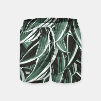 Thumbnail image of Tropical Greenery #1 #green #pattern #decor #art Badeshorts, Live Heroes