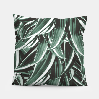 Thumbnail image of Tropical Greenery #1 #green #pattern #decor #art Kissen, Live Heroes