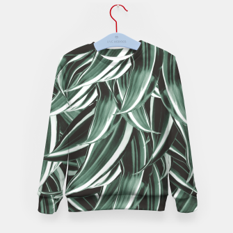 Thumbnail image of Tropical Greenery #1 #green #pattern #decor #art Kindersweatshirt, Live Heroes