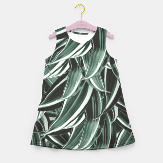 Thumbnail image of Tropical Greenery #1 #green #pattern #decor #art Mädchen-Sommerkleid, Live Heroes