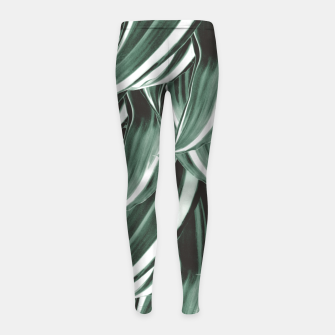 Miniaturka Tropical Greenery #1 #green #pattern #decor #art Kinder-Leggins, Live Heroes