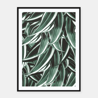 Miniaturka Tropical Greenery #1 #green #pattern #decor #art Plakat mit rahmen, Live Heroes