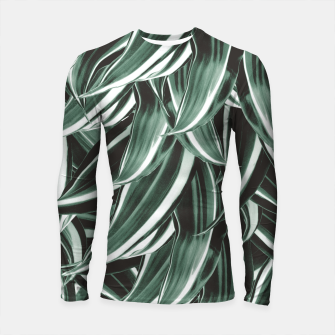 Thumbnail image of Tropical Greenery #1 #green #pattern #decor #art Longsleeve rashguard, Live Heroes