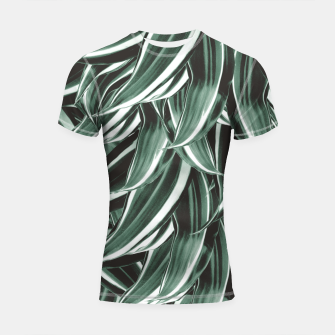 Thumbnail image of Tropical Greenery #1 #green #pattern #decor #art Shortsleeve rashguard, Live Heroes