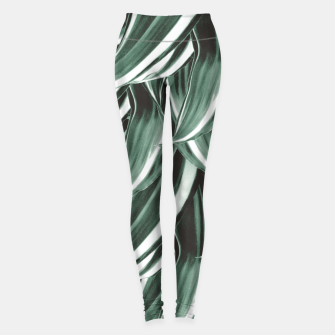 Thumbnail image of Tropical Greenery #1 #green #pattern #decor #art Leggings, Live Heroes