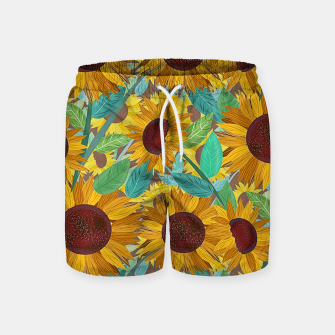 Thumbnail image of Sunflowers Swim Shorts, Live Heroes