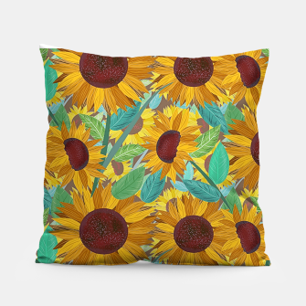 Thumbnail image of Sunflowers Pillow, Live Heroes