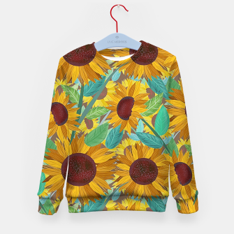 Thumbnail image of Sunflowers Kid's sweater, Live Heroes