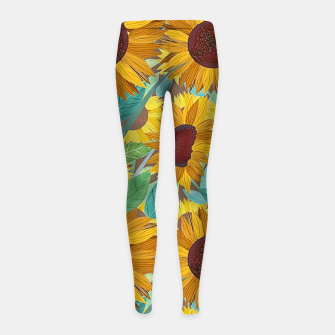 Thumbnail image of Sunflowers Girl's leggings, Live Heroes