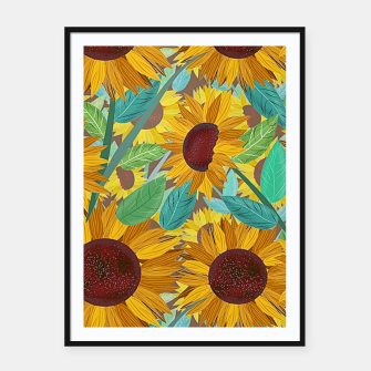 Thumbnail image of Sunflowers Framed poster, Live Heroes
