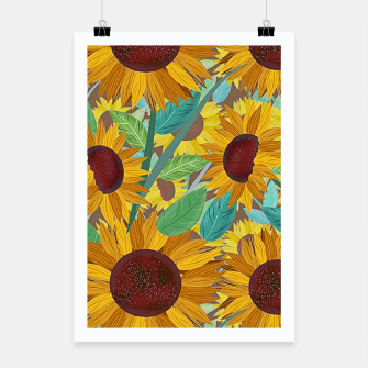 Thumbnail image of Sunflowers Poster, Live Heroes