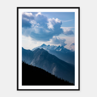 Thumbnail image of Banff from Sulphur Mountain Framed poster, Live Heroes