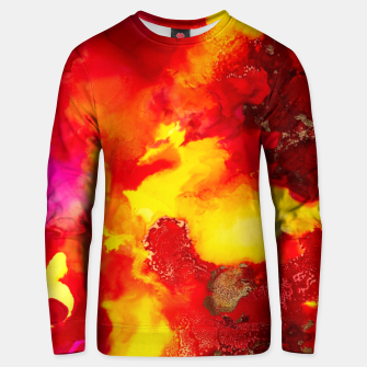 Miniatur Wings in the Door - Orange and Yellow Abstract Unisex sweater, Live Heroes