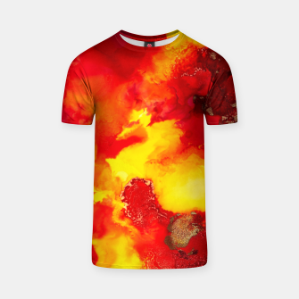 Miniatur Wings in the Door - Orange and Yellow Abstract T-shirt, Live Heroes