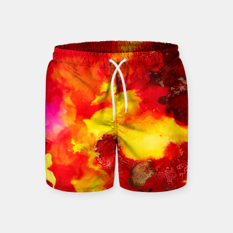 Miniatur Wings in the Door - Orange and Yellow Abstract Swim Shorts, Live Heroes