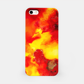 Miniatur Wings in the Door - Orange and Yellow Abstract iPhone Case, Live Heroes