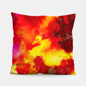 Miniatur Wings in the Door - Orange and Yellow Abstract Pillow, Live Heroes