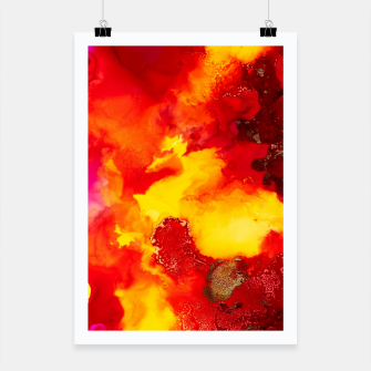 Miniatur Wings in the Door - Orange and Yellow Abstract Poster, Live Heroes