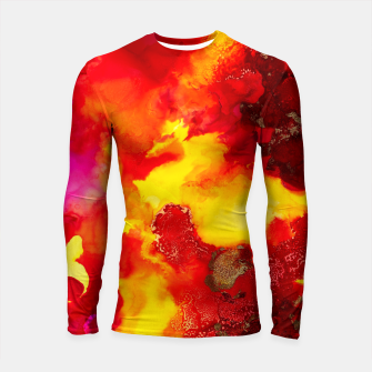 Miniatur Wings in the Door - Orange and Yellow Abstract Longsleeve rashguard , Live Heroes