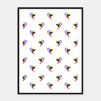 Miniatur minimalistic watercolor scribble seamless pattern std3 Framed poster, Live Heroes