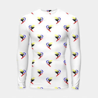 Thumbnail image of minimalistic watercolor scribble seamless pattern std3 Longsleeve rashguard , Live Heroes