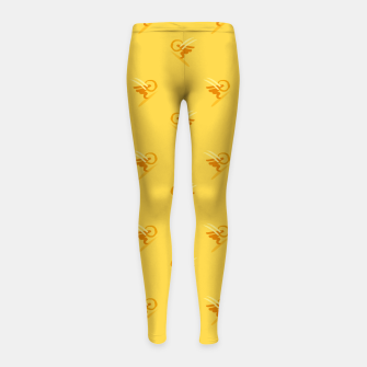Thumbnail image of minimalistic watercolor scribble seamless pattern c89 Girl's leggings, Live Heroes