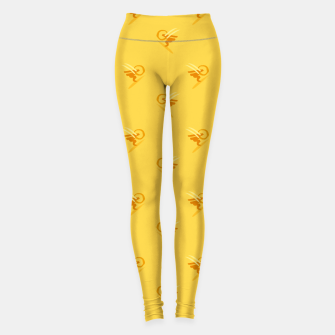 Thumbnail image of minimalistic watercolor scribble seamless pattern c89 Leggings, Live Heroes