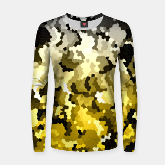 Golden crystals print Women sweater thumbnail image