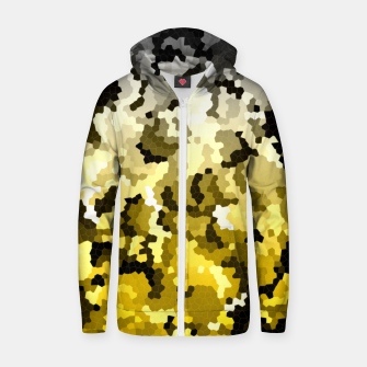 Golden crystals print Zip up hoodie thumbnail image