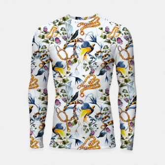 Miniature de image de Exotic birds in chains Longsleeve rashguard, Live Heroes