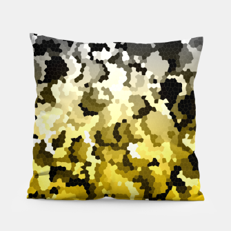 Golden crystals print Pillow thumbnail image