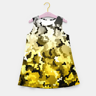 Golden crystals print Girl's summer dress thumbnail image