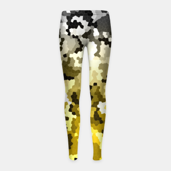 Golden crystals print Girl's leggings thumbnail image