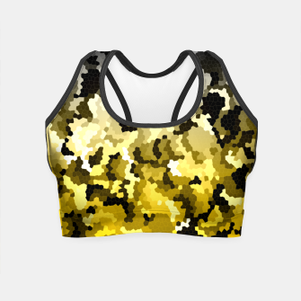Thumbnail image of Golden crystals print Crop Top, Live Heroes