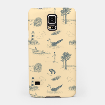 Thumbnail image of Seaside Town Toile Pattern (Beige and Grey) Samsung Case, Live Heroes