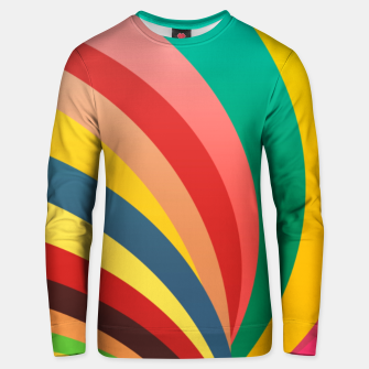 Miniaturka Colorful stripes, rainbow print Unisex sweater, Live Heroes