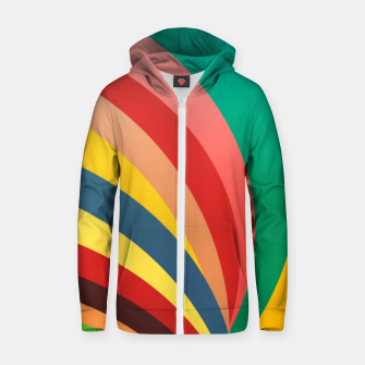 Miniaturka Colorful stripes, rainbow print Zip up hoodie, Live Heroes