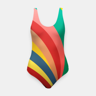 Miniaturka Colorful stripes, rainbow print Swimsuit, Live Heroes