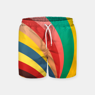 Miniaturka Colorful stripes, rainbow print Swim Shorts, Live Heroes