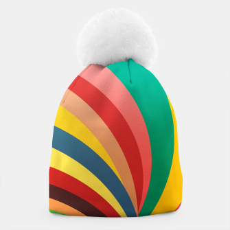 Miniaturka Colorful stripes, rainbow print Beanie, Live Heroes